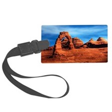 Natural arch in Arches National  Luggage Tag