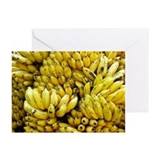 Close up of bananas Greeting Cards (Pk of 10)