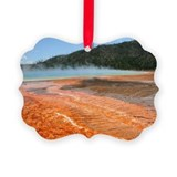 Grand prismatic spring yellowston Picture Ornament
