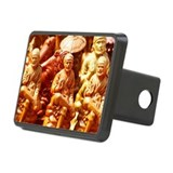 Miniature figurines of Shi Rectangular Hitch Cover