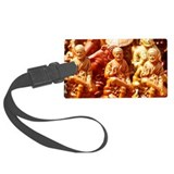 Miniature figurines of Shirdi Sa Large Luggage Tag