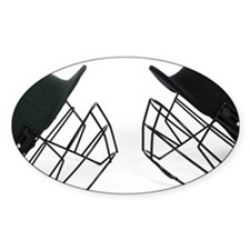 Two cricket helmets facing ea Decal