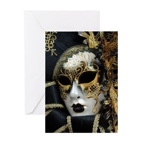 Venetian Carnival Mask, Venice Greeting Card