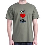 Eye Love NOLA (brown) Dark T-Shirt