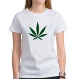Marijuana Leaf Green Tee