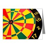 Dart in center of a dart boa Note Cards (Pk of 10)