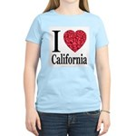 I Love California Women's Pink T-Shirt