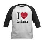 I Love California Kids Baseball Jersey