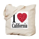 I Love California Tote Bag