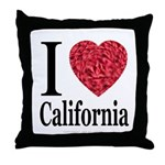 I Love California Throw Pillow