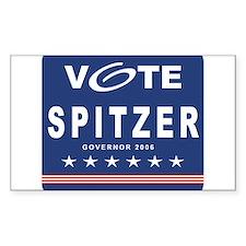 Vote Eliot Spitzer Rectangle Decal