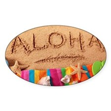 Aloha beach scene Decal