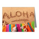Aloha beach scene Note Cards (Pk of 10)