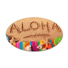 Aloha beach scene Wall Decal