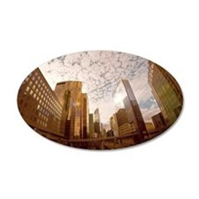 City dusk in Paris Wall Decal
