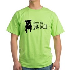 Love My Pit Bull (Natural Ears) T-Shirt