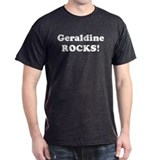 Geraldine Rocks! Black T-Shirt