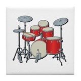 Drum Set Tile Coaster