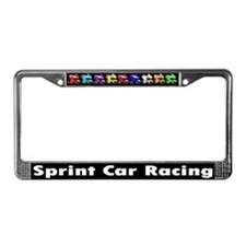 Sprintcar Racing Winged License Plate Frame