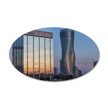 Mississauga Sunset 35x21 Oval Wall Decal