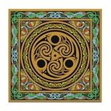 Celtic design 3 Tile Coaster