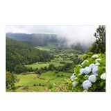 Misty Azorean valley with Postcards (Package of 8)