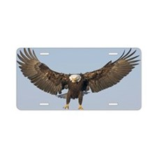 Bald Eagle landing Aluminum License Plate