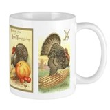 Vintage Thanksgiving Turkeys Coffee Mug