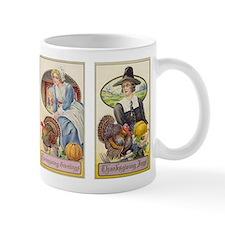 Vintage Thanksgiving Pilgrims Mug