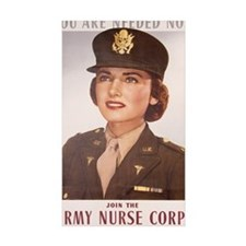Vintage army nurse corps Decal