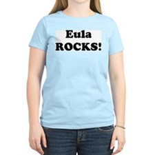 Eula Rocks! Women's Pink T-Shirt
