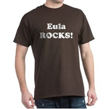 Eula Rocks! Black T-Shirt