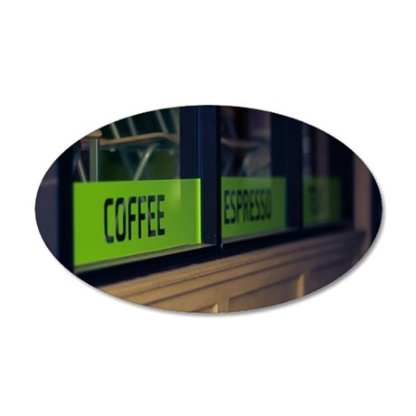 Coffee House 35x21 Oval Wall Decal