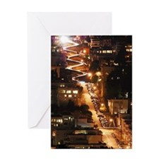 Lombard lights Greeting Card