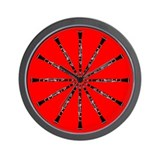 Clarinet Red Wall Clock