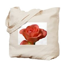 Coral Beauty Rose Tote Bag