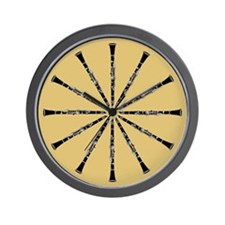 Clarinet Tan Wall Clock