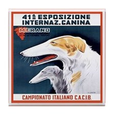 Italian Vintage Dog Tile Coaster