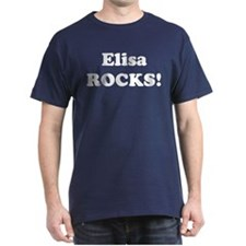Elisa Rocks! Black T-Shirt