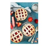 Rhubarb and strawberry mi Postcards (Package of 8)