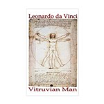 Vitruvian Man Rectangle Sticker