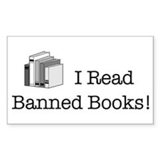 Banned Books! Rectangle Decal