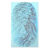 Fingerprint on blue background Decal