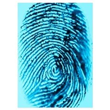 Fingerprint on blue background Invitations