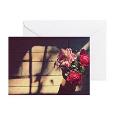 Garden bouquet of red an Greeting Cards (Pk of 10)