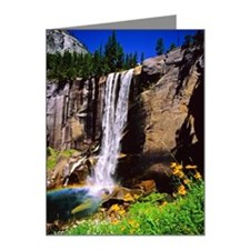 Vernal fall, Yosemite Nation Note Cards (Pk of 10)