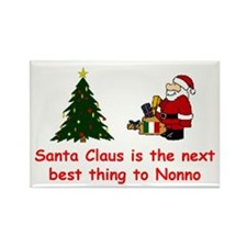 Santa Claus vs Nonno Rectangle Magnet