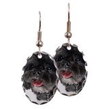 Portrait of Lhasa Apso Earring Oval Charm