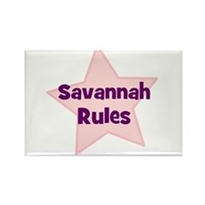 Savannah Rules Rectangle Magnet (10 pack)