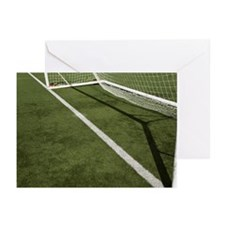 Goal line on a football  Greeting Cards (Pk of 20)